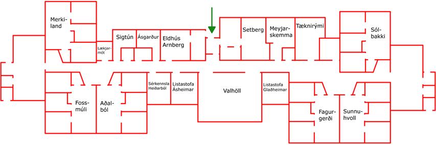 Teikning af Jötunheimum